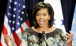 Message of Michelle OBAMA to H.E Ambassador LECLERC